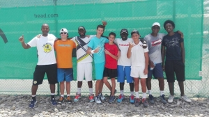 Morning training la terre tennis from Guadeloupe at Eta day over job players and coaches