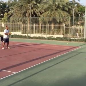 Coach Salman park training player forward hard