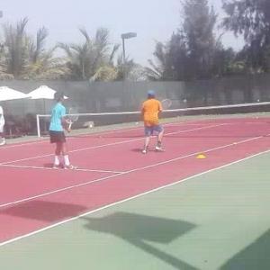 Volleys volley volley toward the net Astoria Rak alkhaimah