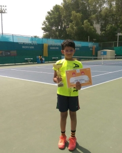 Congrats Kaushik ball masters #8 and under player Rajesh job