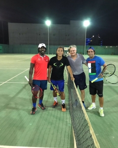 Tennis is a gentleman game fun atmosphere at Eta to Joseph and Samuel coach Nabil vice-consul Emanuel seed moves on to quarterfinals