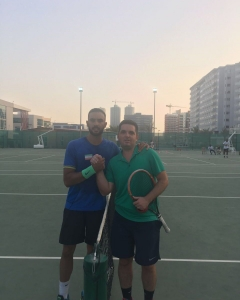 Amirvala Madanchi and Christian Costin wins his first round his 2nd match Oleg Geraskin play semifinals men's open