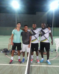 Congratulations Fuad and Michael coaches of doubles tournament Alvaro and Kirk