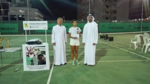Runner up woman singles Saeed Bin Hasher Al Maktoum Abdulmalik federation vice-president