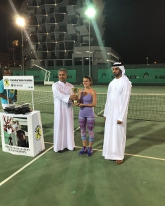 Congratulations Giulia Chirilov top seed of women's singles tournament