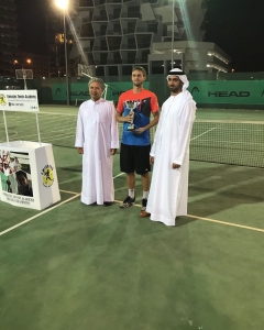 Runner up Xavier Masson Men's singles