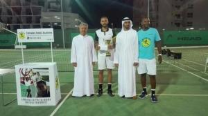 Bravo Amir 6/2 6/3 men's singles champion thanks Saeed Bin Hasher Al Maktoum Abdulmalik vice-président