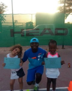 End of term in viss to those two cuties coach Segun job international school of Sharjah Sharjah create champions