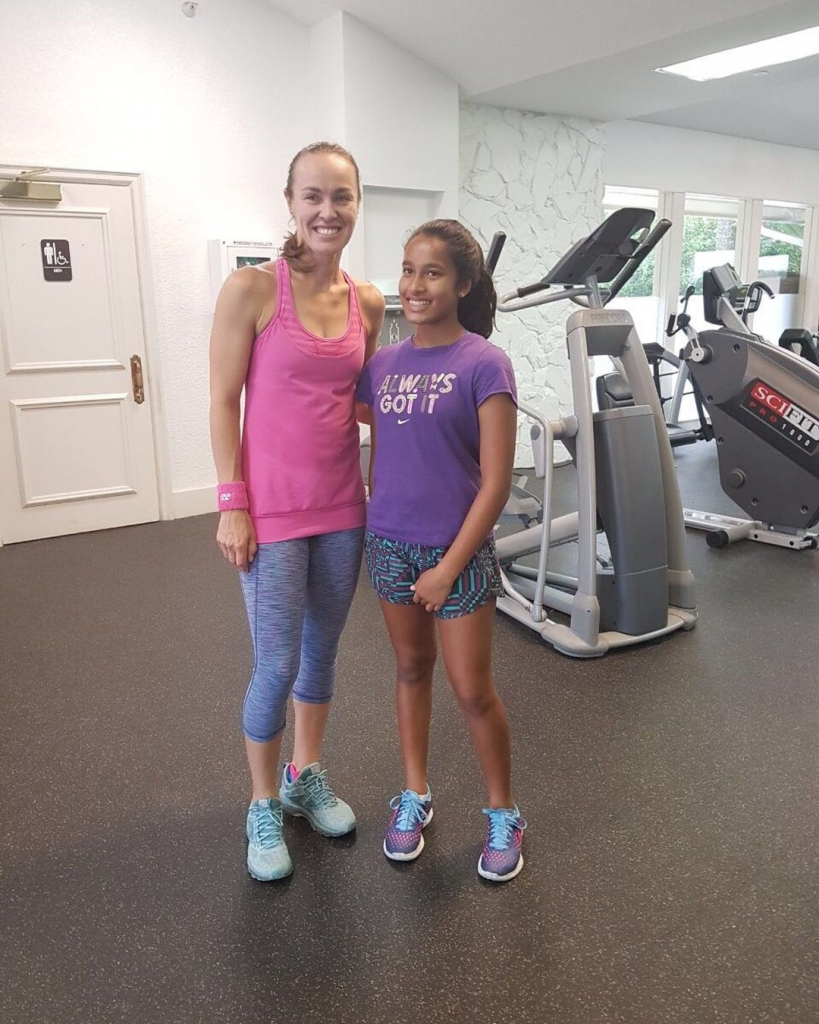 Iyannah and Martina Hingis in Saddlebrook resort tennis hard fun player# Headmiddleeast create champions