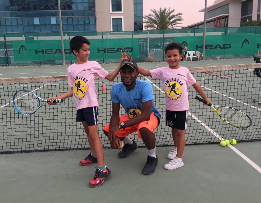 Tennis classes in silicon oasis open levels welcome coaches certified program us on 0501635231 info on www.emirates-tenniscademy.com create champions