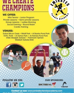 Register with Emirates tennis Academy us now-performance the right way
